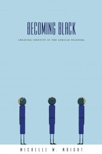 Cover of Becoming Black (2004); artwork from Greenheads series by Laylah Ali
